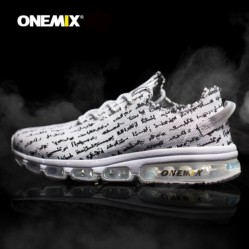 ONEMIX Autumn Men Shoes Breathable Mesh Comfortable Wearable Antislip Soft Outdoor Sports Running Shoes Sneakers Free Shipping apple summer new arrival men s light mesh sports running shoes breathable fly knit leisure comfortable slip on sneakers ap9001