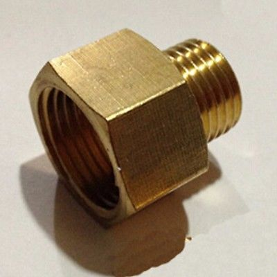 Brass Reducer Reducing Connector M8x1mm Female to M10x1mm Male Thread Bushing  Fitting