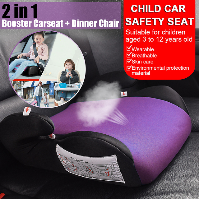 3 12 Years Old Children Car Seat Safety Folding Child Kids Booster Portable Increase Height