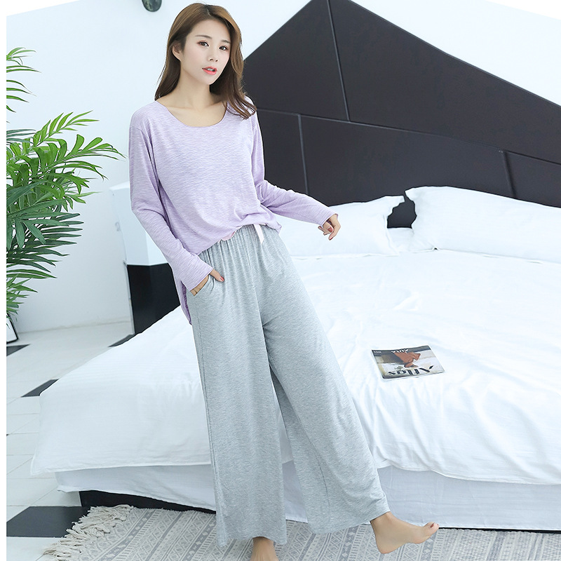 2019 New summer   pajamas     sets   modal material good for healthy loose design bust 90-120cm can wear 481