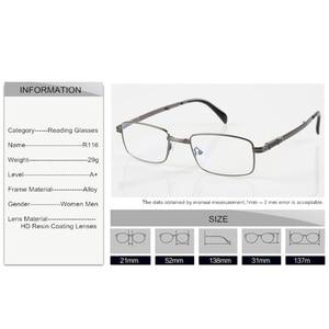 Image 5 - SWOKENCE الراقي ماركة سبائك الإطار مكافحة التعب الراتنج العدسات للطي نظارات للقراءة النساء الرجال طوي الشيخوخي نظارات R116