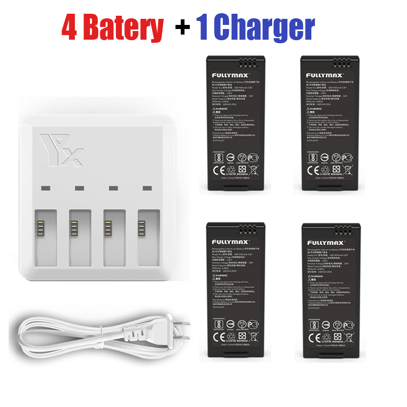 DJI Tello Battery + 4in1 Quick Multi Charging Hub for DJI TELLO Drone Intelligent Flight US Plug Accessories