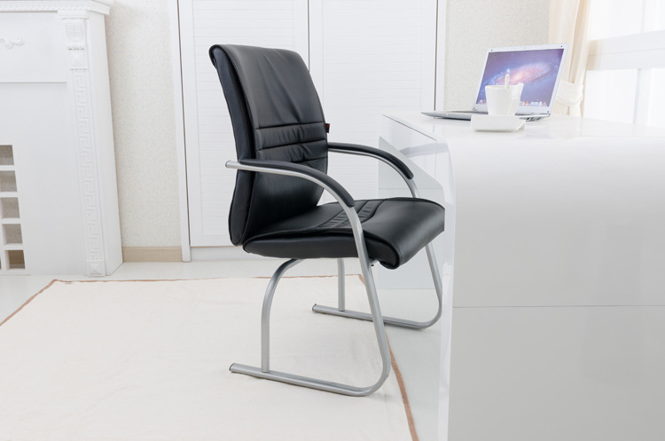 dining room black chair free shipping Khaki color office stool bow shape chair PU seat 240337 ergonomic chair quality pu wheel household office chair computer chair 3d thick cushion high breathable mesh