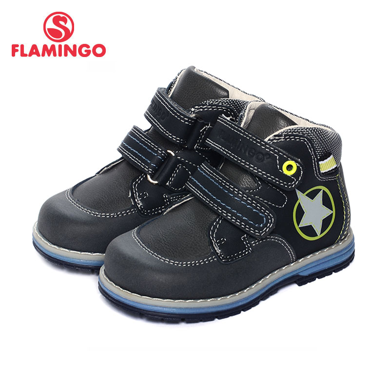 FLAMINGO 2017 New Arrival Spring & Autumn fashion kids boots high quality anti-slip kids shoes for boys 71B-XY-0124