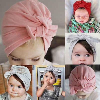 1976e6f85f20e9 2017 Newborn Baby Toddler Kid Boy Girl Bowknot Beanie Hat Cap Hair  Accessories(Bowknot need