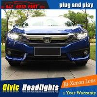 Car Styling for Honda Civic LED Headlights 2016 2018 For Honda Civic Style Lens Double Beam H7 HID Xenon bi xenon lens headlamps