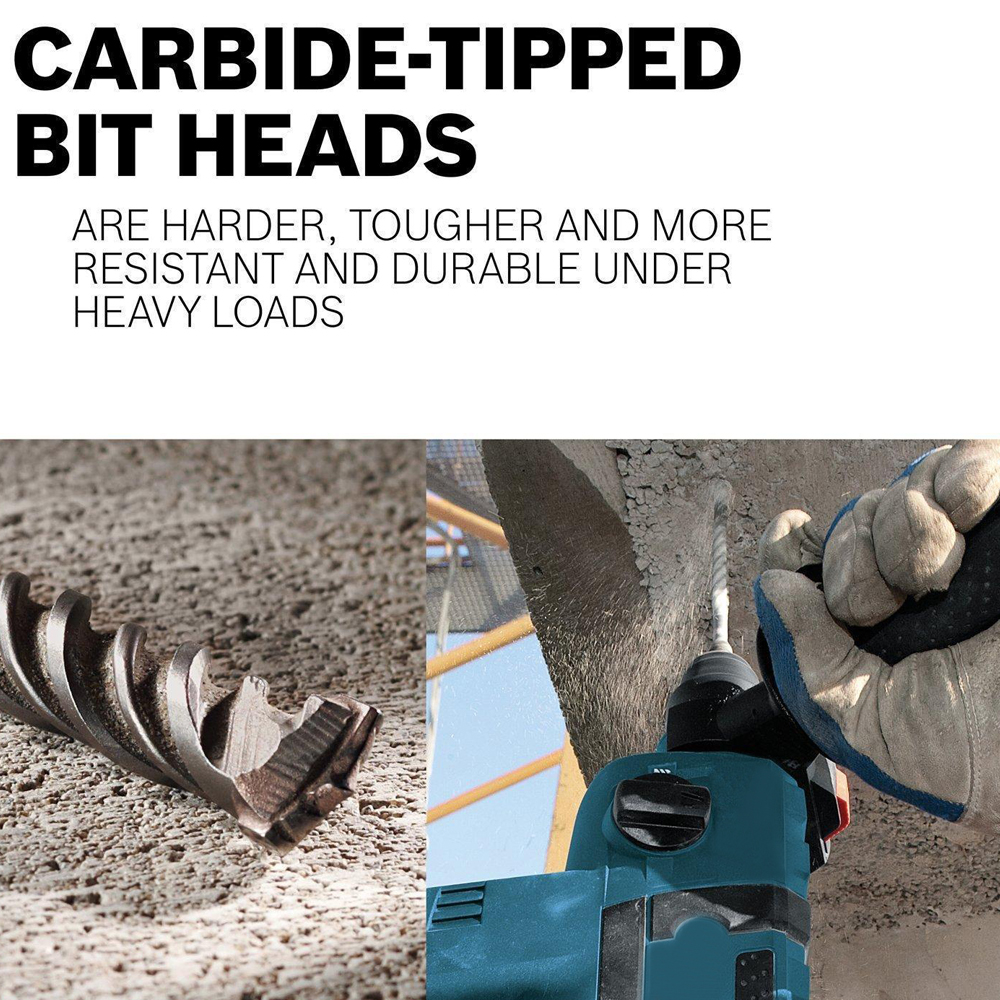 Square Shank 16mm Tip 15cm Length Concrete Masonry HSS Impact Drilling Bit