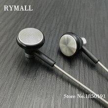 RY04 orijinal kulak içi kulaklık metal üreticisi 15mm müzik kalitesi ses HIFI kulaklık (ie800 tarzı), 3.5mm, yeni dokuma kablo