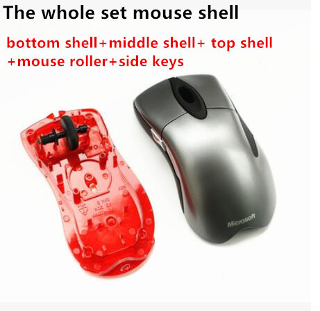 1 Set Mouse Shell + Mouse Roller + Side Keys For Microsoft IntelliMouse EXPLORER 3.0 Genuine Mouse Housing Mouse Case