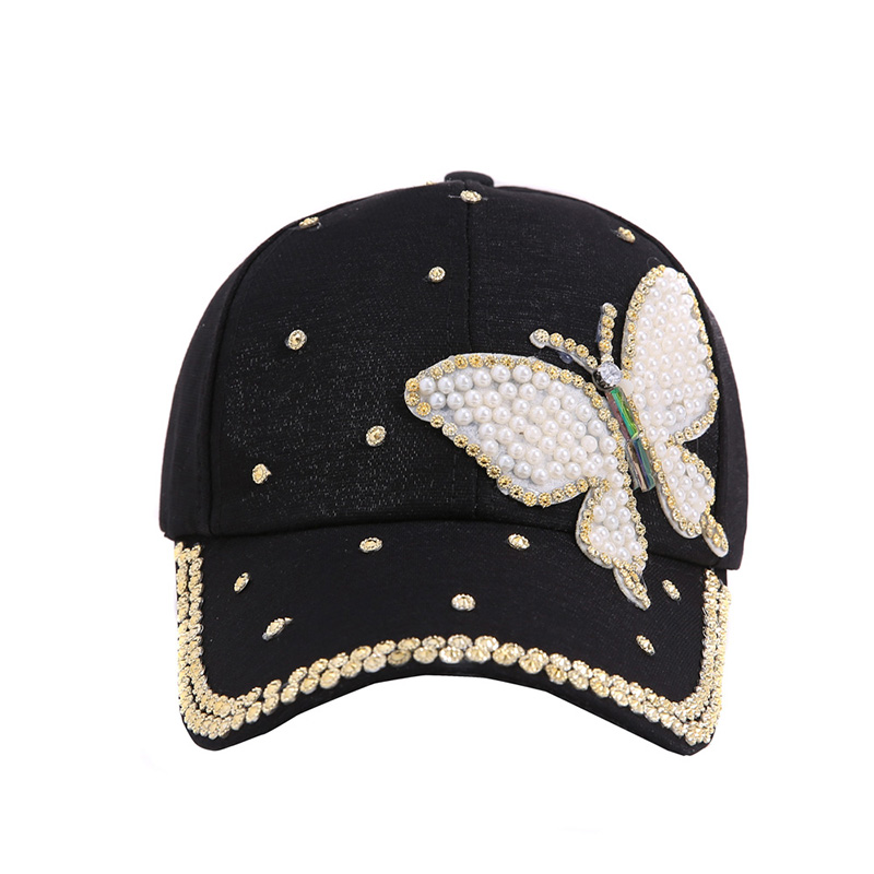Offen Casual Baseball Cap Knochen Frauen Hüte Snapback Hut Hip Hop Caps Diamant Schmetterling Perle Motorhaube Einstellbare Mode Zubehör Kataloge Werden Auf Anfrage Verschickt Kopfbedeckungen Für Damen