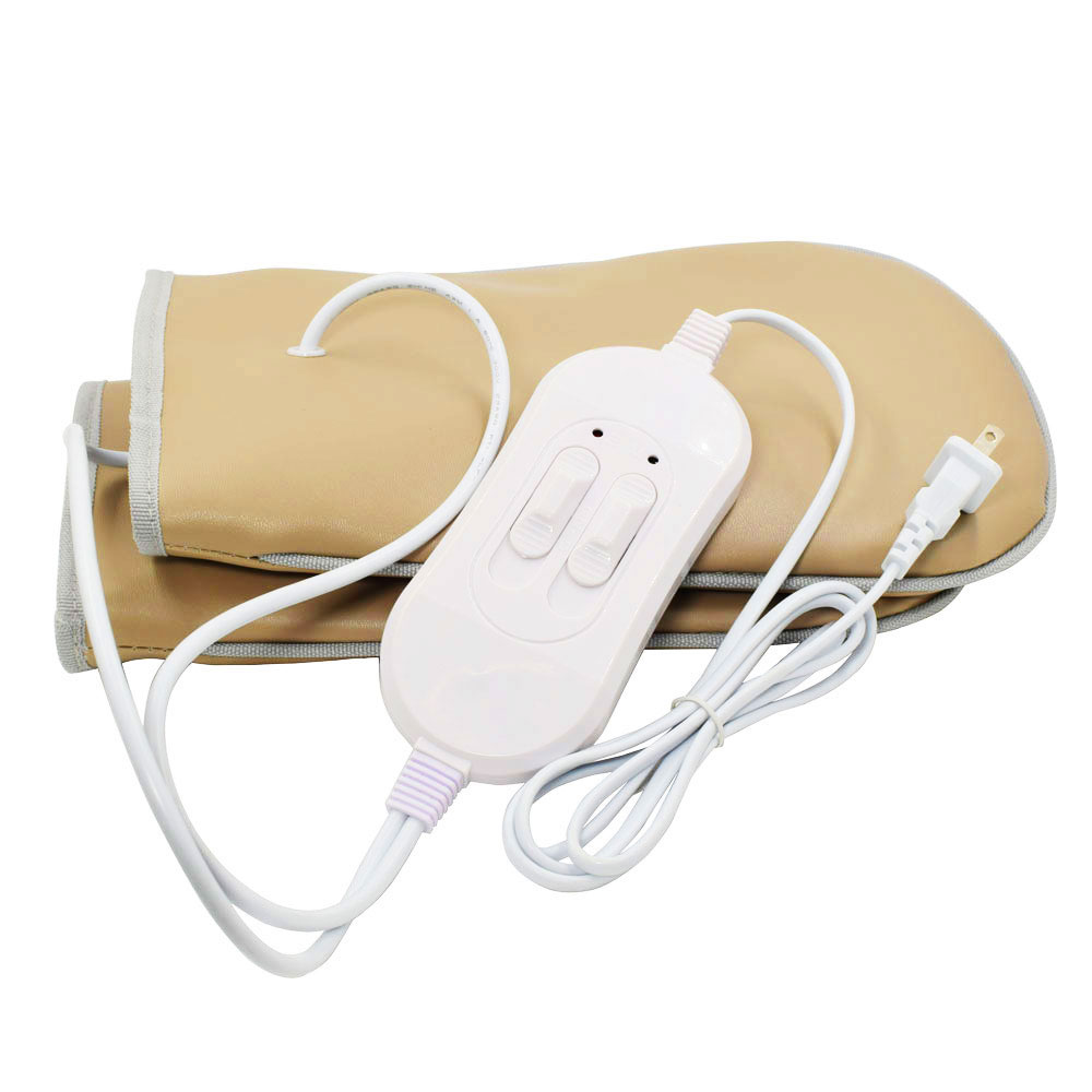 Far Infrared Therapy Electric Heated Spa Feet hand Glove Mitt Warm Salon Vibration Massage Beauty Gloves