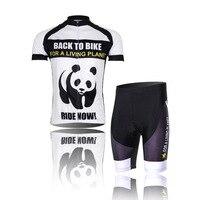 2016 Uomo Ciclismo maglia Panda Bike Manica Corta Abbigliamento Sportivo Abbigliamento Ciclismo CC0107
