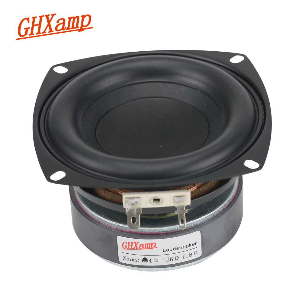 GHXAMP 1PC 4 tommers 40 W Subwoofer Høyttaler Woofer High Power Long Stroke BASS Hjemmekino For 2.1 Subwoofer-enhet Høyttalere DIY