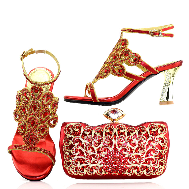 2018 Wholesale shoe and bag set for nigeria party Shoes And Bags To Match in high quality felix emoruwa choreographic quest in asawogidigba and biripo dances in nigeria