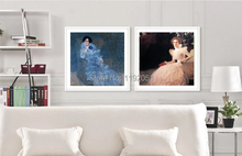 portrait  frameless paintings canvas paintings mural prints Marie Henneberg 1901-1902 graceful girls  Gustav Klimt dazzle butterfly prints diamond paintings