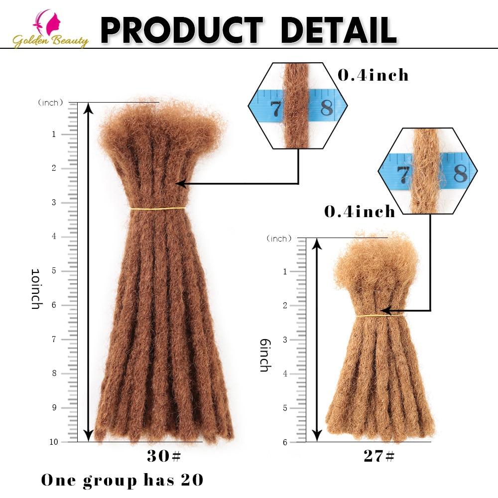 "Golden Beauty 6"" 10"" Handmade Dreadlocks Hair Extensions 5strands Synthetic Dreadlock Crochet Hair For Women Men 5"