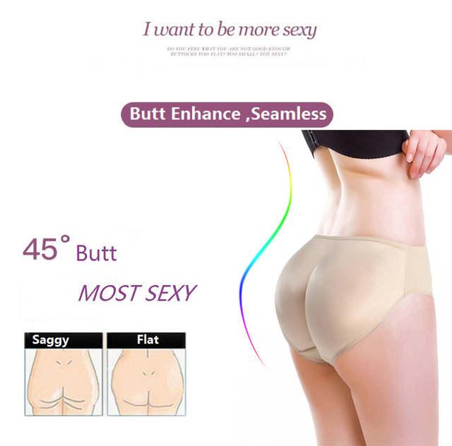 2a05d6e6192 NINGMI Hot Shaper Boyshort Push Up Control Panties Women Big Ass Underwear  Fake Butt Pad Waist