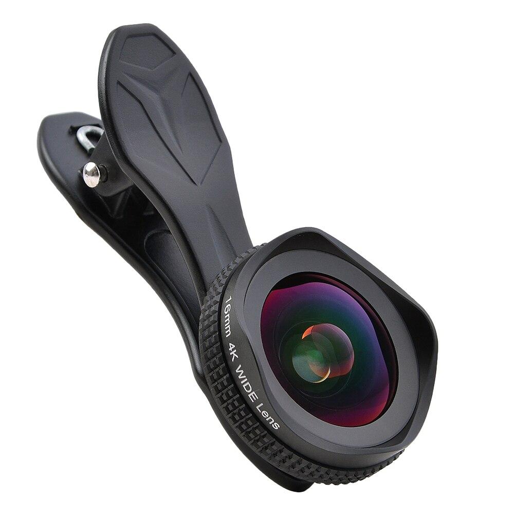 imágenes para APEXEL Profesional HD Lente Óptica universal de 16mm 0.6X4 k Super gran Lente CPL filtro para iPhone/Xiaomi/Samsung