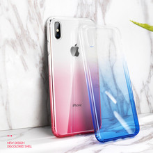 Gradient Clear Phone Case For iPhone 6 6S iPhone 7 8 Plus Ultra Thin Cases for iPhone X XS Max XR Luxury Soft TPU Case Cover cafele luxury case for iphone 7 8 plus crystal clear tpu soft case cover for iphone 8 7 plus ultra thin