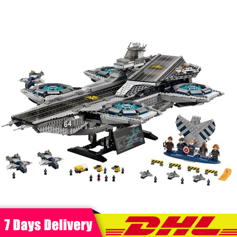 DHL IN Stock 3057Pcs LEPIN 07043 SY911 Super Heroes The SHIELD Helicarrier Building Blocks Bricks Set DIY Toys Fit for 76042 in stock dhl lepin 07043 super heroes the shield helicarrier model building kits blocks bricks toys compatible 76042