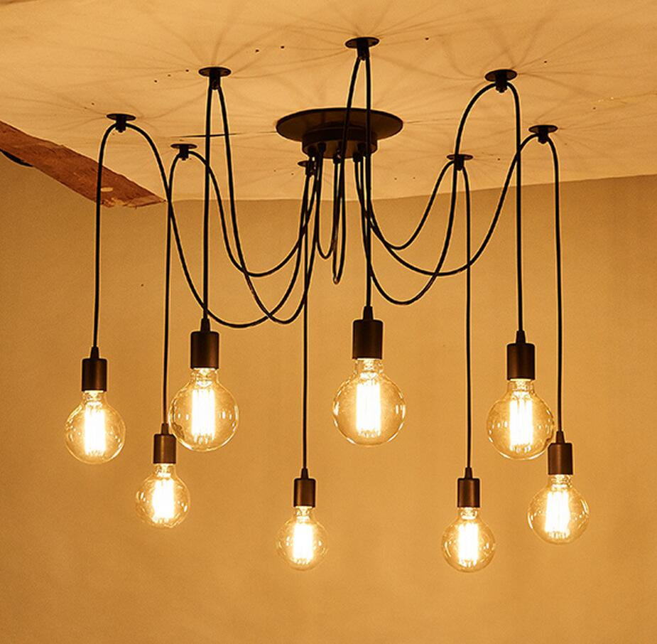 6Heads/8Heads DIY Pendant lights Modern Nordic Retro Hanging Lamps Spider Ceiling Lamp Fixture Light for Living Room Droplight fashion design of kids room lamp nordic dome light 3 5 heads ceiling lights for home decorate