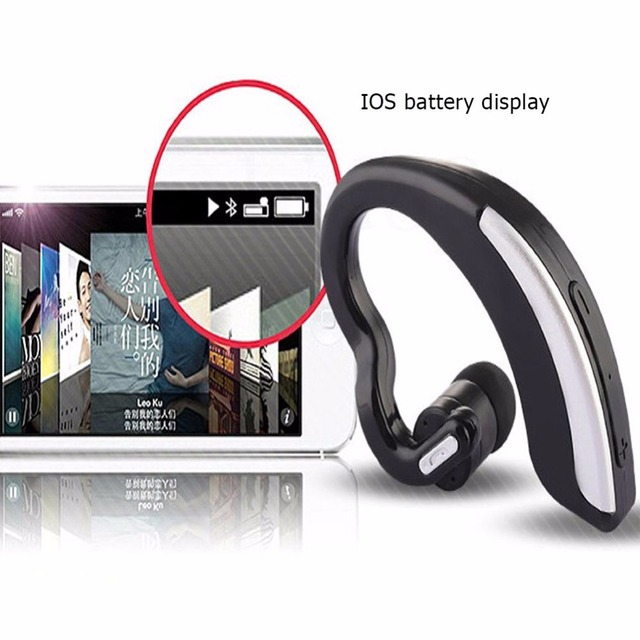 Business Mini Wireless Headset Sport Bluetooth Noise Cancelling Voice Control Earphone Driver Sport Earphones For IPhone Android