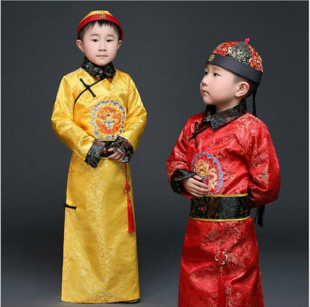 0e231be2272 Hanfu Dress Ancient Chinese Traditional Costume Men for Kids Boys Hanfu  Cosplay Child Clothing Tang Dynasty Dance Children