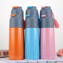 цена на YIBO Women Vacuum Stainless Steel Vacuum Flask Creative Silicone Rope Insulation Bullet Cup Cute Student Small Q Gift Cup