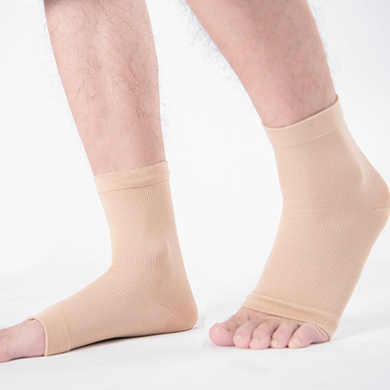 1Pair Unisex Men Women Toeless Plantar Fasciitis Compression Socks Heal Foot Pain Ankle & Arch Support Swell