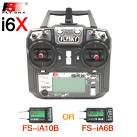 Flysky FS-i6X FS I6X 2.4 그램 RC 송신기 컨트롤러 10/6CH iA10B 또는 iA6B 수신기 i6 업그레이드 RC 헬기
