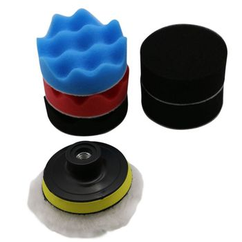 7pcs 8CM Car Polishing Buffing Pad Set Car Removes Scratches for Auto Car Polishing Wheel Kit Buffer With Drill Adapter Brush
