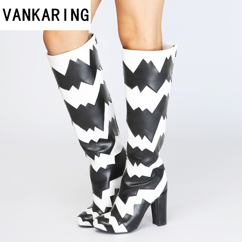 VANKARING Plus size Luxury brand new design women knee high boots microfiber leather party autumn winter boots women dress shoesVANKARING Plus size Luxury brand new design women knee high boots microfiber leather party autumn winter boots women dress shoes