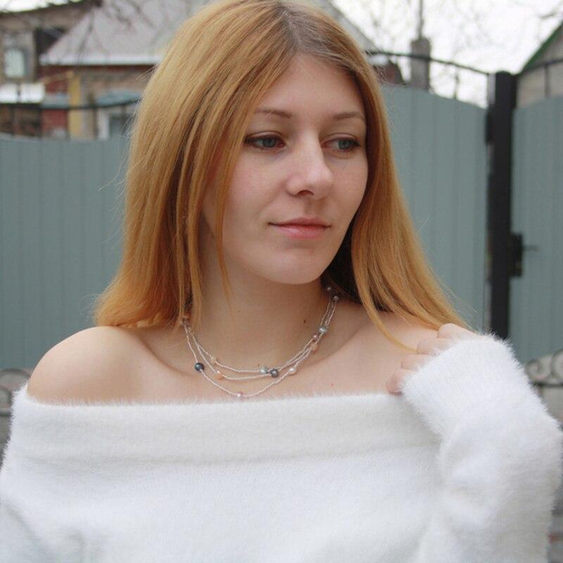 Collar de perlas barrocas de agua dulce natural ASHIQI para mujer, - Joyas - foto 5