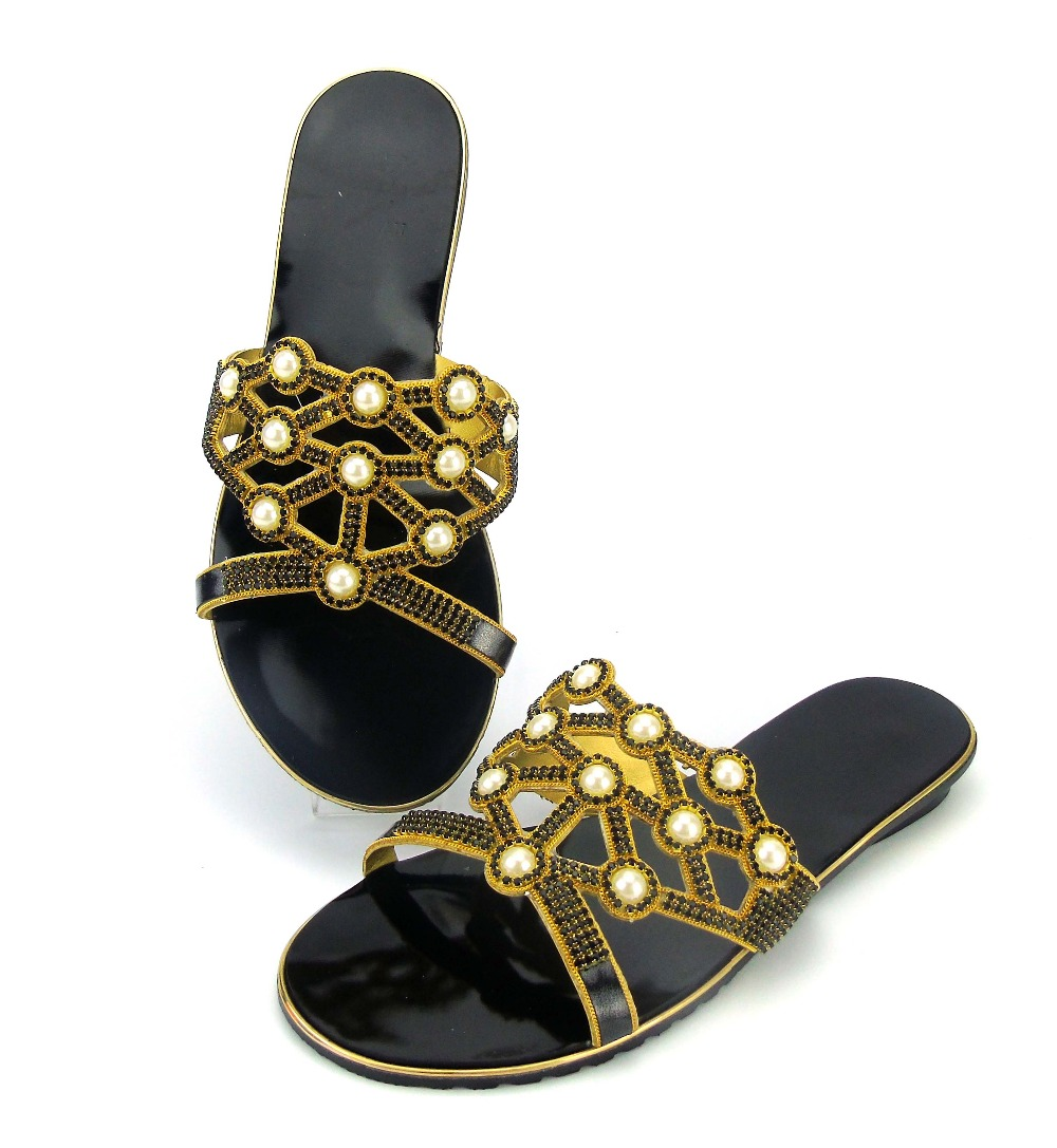 doershow Hot Selling Fast black Italian Shoes Women African Party Shoes Pumps With Stone Wholesale! ABS1-1 fast talk italian