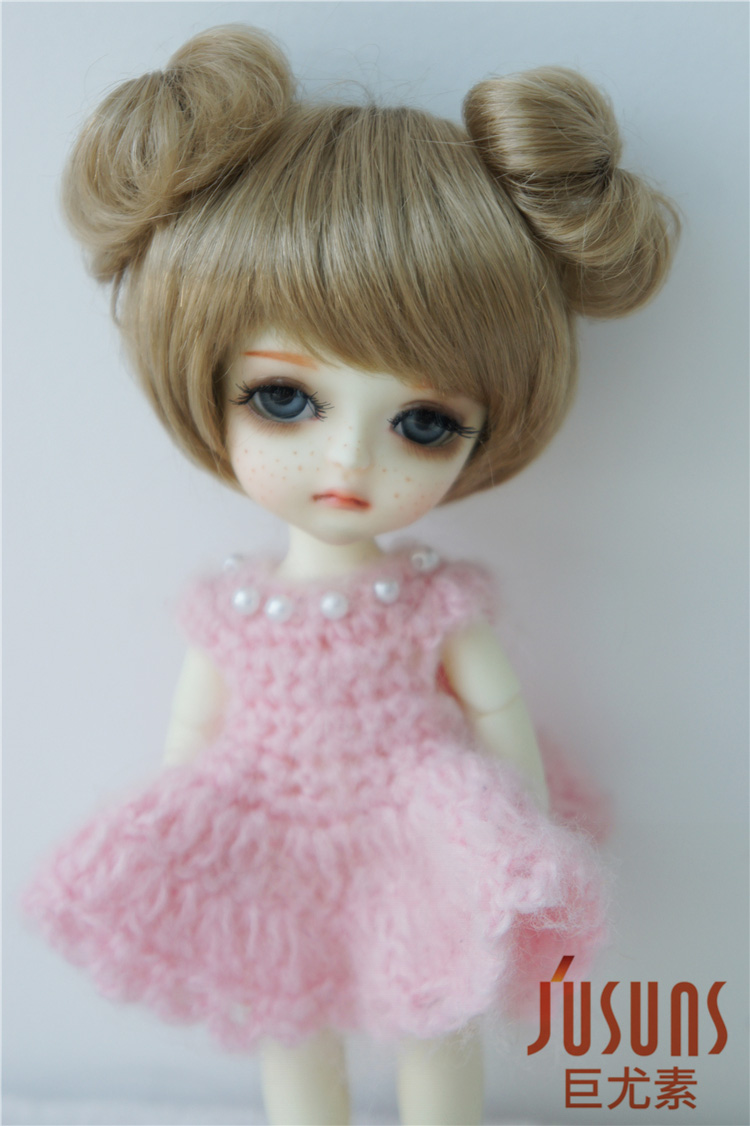 JD301 1/8 Synthetic mohair BJD doll wig 5-6inch double circle concentric tail Lati yellow size doll accessories 8 9 bjd wig silver knights of england volume mohair wig spot