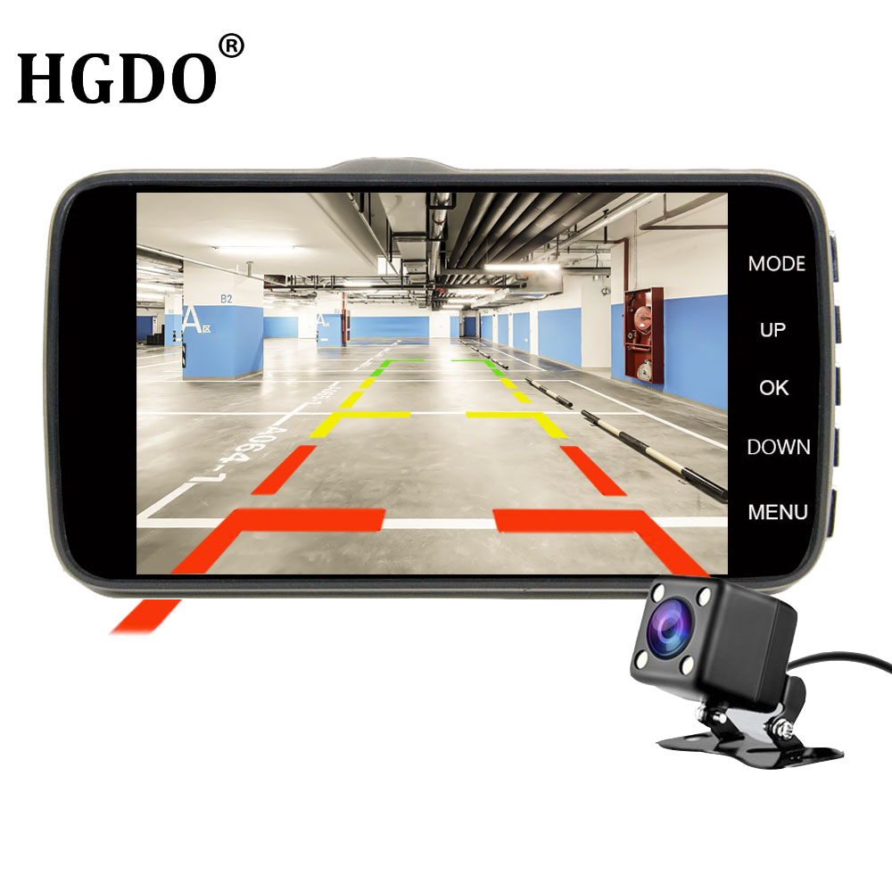 HGDO Dual Lens Dashcam 4 Car DVR Full HD 1080P Video Auto Registrator Car Dash Camera G-sensor Loop Recording Dash Cam Dvrs