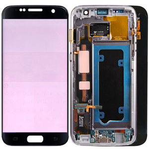 Image 1 - Original G930F LCD For Samsung Galaxy S7 LCD Screen Frame Touch Screen Display SM G930F LCD Display With Burn Shadows