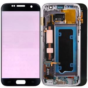 Image 1 - 원래 g930f lcd 삼성 갤럭시 s7 lcd 화면 프레임 터치 스크린 디스플레이 SM G930F lcd 디스플레이 화상 그림자