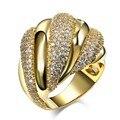 Nova Vinda Do Vintage Anéis Para As Mulheres ródio banhado a Ouro com Cubic zirconia jóias da moda Presente de Casamento AAA Cubic Zriconia