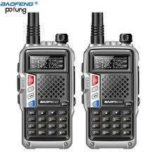 2PCS 2020 BAOFENG BF UVB3 PIÙ di 8W UHF/VHF Dual Band 10KM Lungo Raggio Thickenbattery Walkie Talkie molteplici Modalità di Ricarica Radio