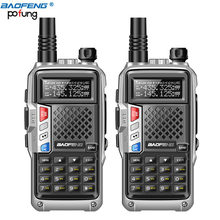 2 pièces 2020 BAOFENG BF-UVB3 PLUS 8W UHF/VHF double bande 10KM longue portée épaissir talkie-walkie Mode de charge Multiple Radio(China)
