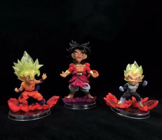 3pieces/set Dragon Ball Z Vegeta Goku Anime Action Figure PVC New Collection figures toys Collection for Christmas gift usb 2 0 male to female extension cable blue