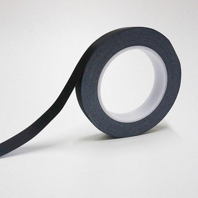30M/rollo de tela de acetato negro cinta adhesiva aislante para el cable de la bobina del Motor LCD, tela negra y pegamento