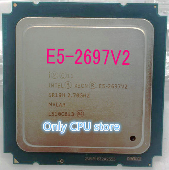 Processeur Intel Xeon E5 2697 V2 OEM Version E5 2697V2, 12 cœurs, 2.7GHZ, 30MB FCLGA 2011, 22NM 130W, CPU E5 2697 V2