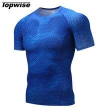 Men Breathable Sport Fitness Bodybuilding Gym T Shirt Men Lycra Compression Tights Running Basketball Crossfit Under Tee Tops