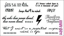 (Min Order $0.5) Waterproof Temporary Tattoo Tatoo Henna Fake Flash Tattoo Stickers Taty Tatto Lightning Peach WM264