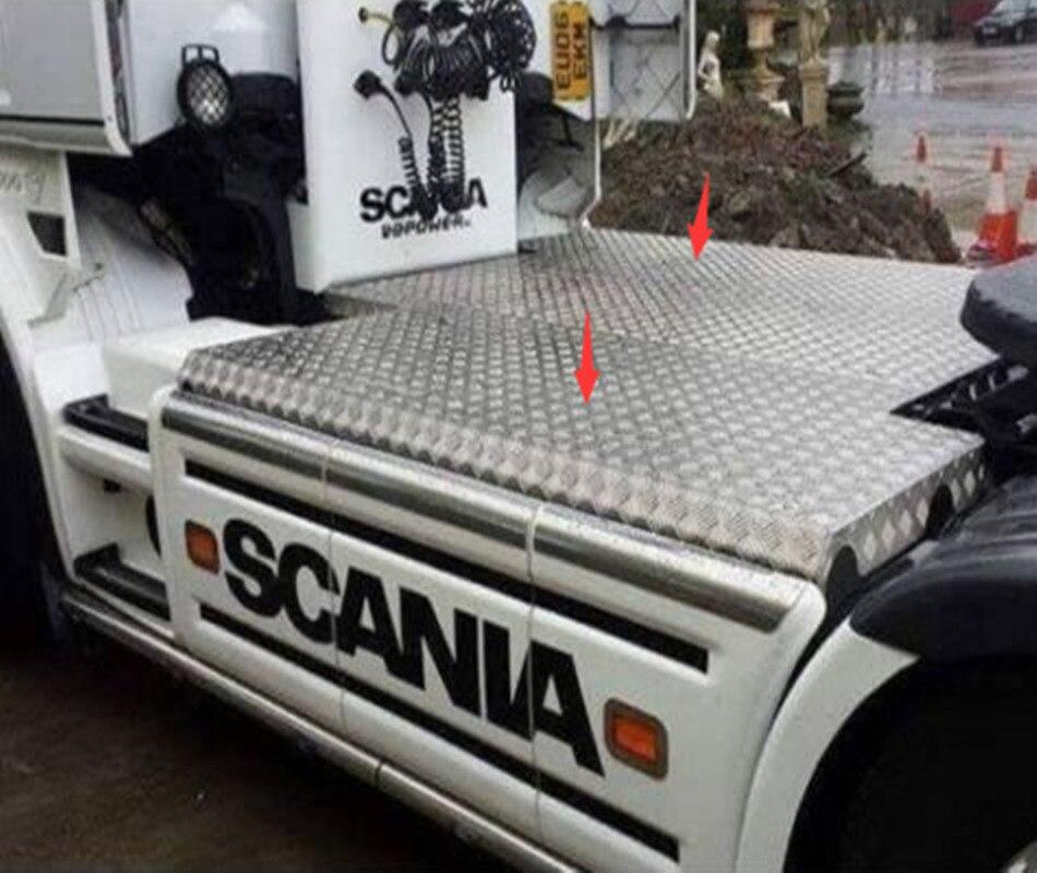Costume décoratif de plaque d'acier inoxydable antidérapant de camion de scania de RC pour la remorque de tracteur de tamiya 1/14th échelle rc scania r470 56318