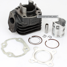 50CC Комплект прокладок поршня головки цилиндра с 2 прокладками/2 зажимами/поршневой штифт/поршень/2 кольца для Yamaha JOG 50 Minarelli