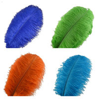 wholesale 50 500pcs/lot natural ostrich feather 30 35cm diy feathers for crafts carnival costume party wedding decoration Plumes