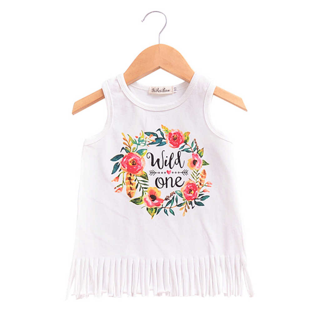 Summer 2018 New Casual Style Fashion Cute Baby Girls Princess Beach Dress  Letter Casual Sundress Clothes cb2496c42ee1